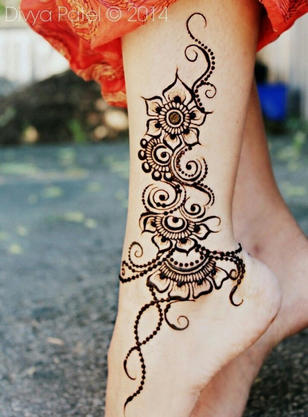 simple henna design for eid