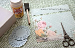 How To Decoupage Box With Scrapbook Paper