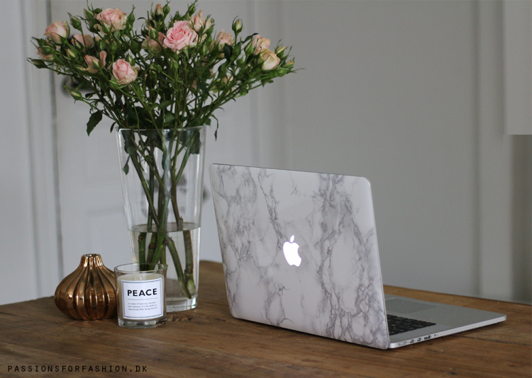 DIY marble laptop cover