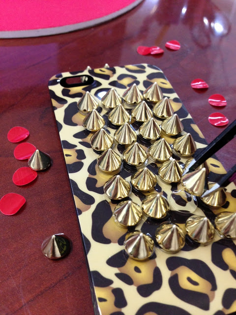 DIY spiked phone cover