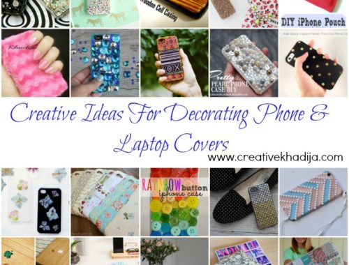 creative ideas for decorating and designing phone casings and laptop covers DIY