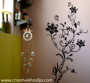 creative khadija craft room wall decal installation