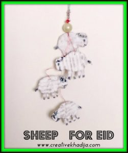 eid and hajj sheep crafts and cards making ideas