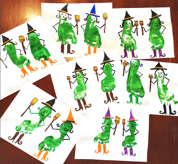 fall and halloween witches crafts for kids