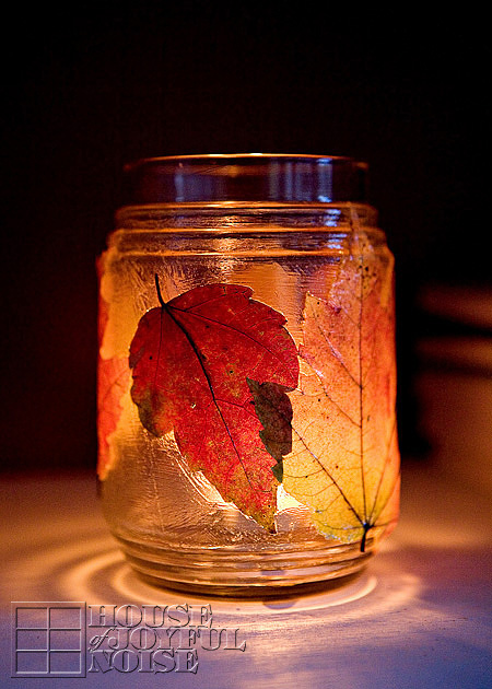 fall and halloween ideas candles jars for kids