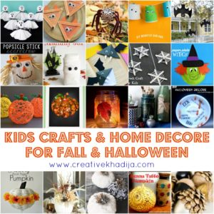 fall crafts and halloween kids crafts ideas