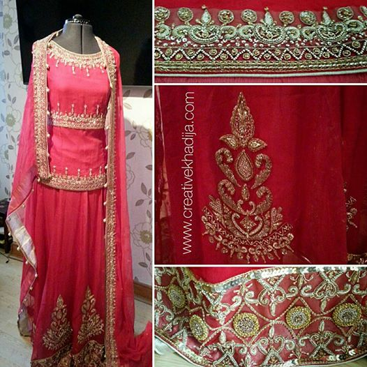 bridal lehnga fashion design collaboration