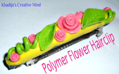 dough embellished hair clip tutorial