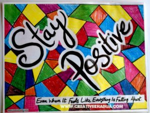 stay-positive typography wall-art-creative-for-sale
