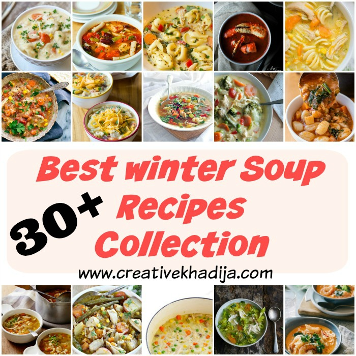 30+ best winter soups and chicken vegetable and white meat recipes to try