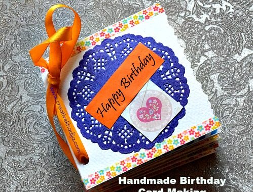coloring book pages style handmade birthday card