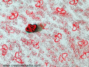 Handmade hearts stamping texture cards for sale