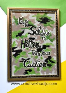 Pakistan Day Camouflage Painting Wall Art For Sale
