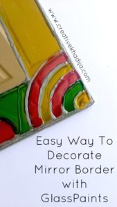 Truck art inspired mirror border painting for spring home decore ideas creative