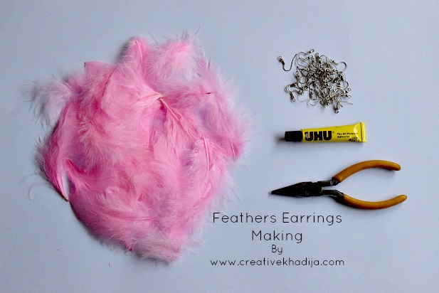 how to make feather jewelry and crafts idea by creative khadija blog