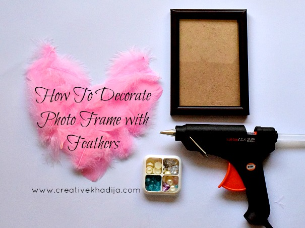 how-to-decorate-photo-frame-with-feathers-pearlsd-rhinestones-creative-khadija-tutorials