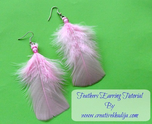 feather earring making