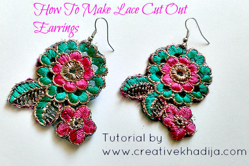 How To Make Lace Cut Out Earrings In Two Minutes