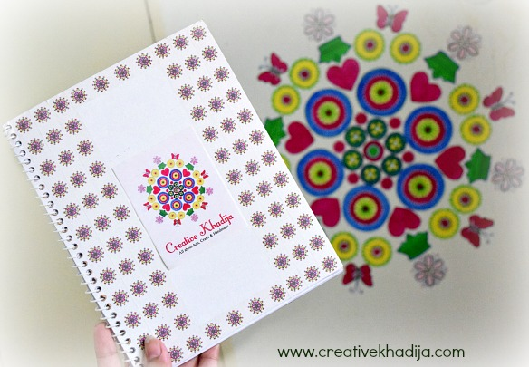 How to design diary cover with washi tape. Creative Khadija Logo Printed Customized Washi Tape