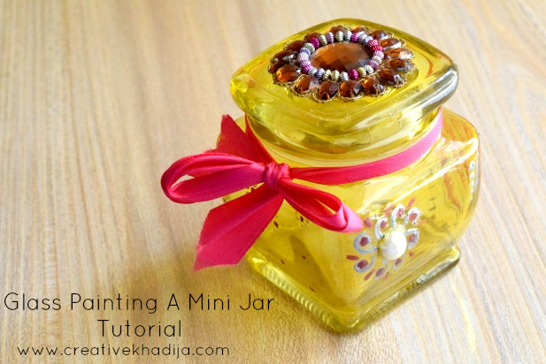 How to decorate and glass paint a food jar-tutorial