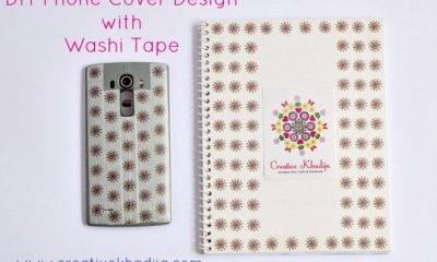 how to design phone casing with washi tape