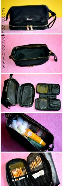kinzd cosmetic bags for travel & makeup organization bags review