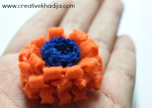 How To Make Felt Fabric Flower In Two Minutes