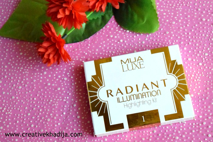MUA Luxe Highlight Kit Review swatches & product photography by Creative Khadija blogger