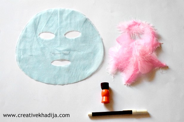 Halloween ghost masks crafting ideas with kids