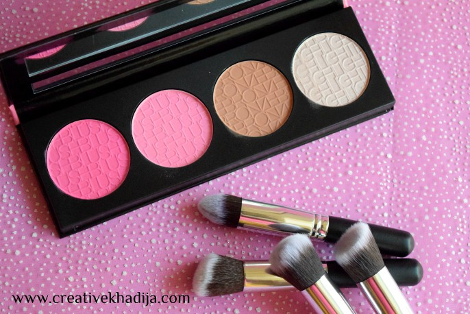 L.A Girl Beauty Brick Blush - Pinky Review swatches & product photography by Creative Khadija blogger
