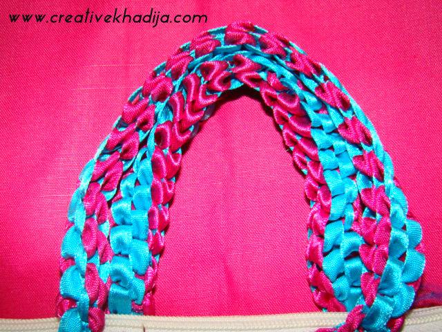 Ribbon & Laces weaved Handbag