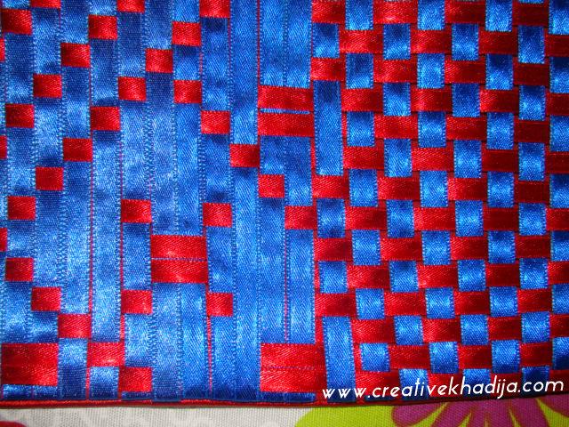 Silk Ribbon Weaving Creative Pillow