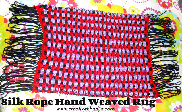 Silk Rope Hand Weaved Rug