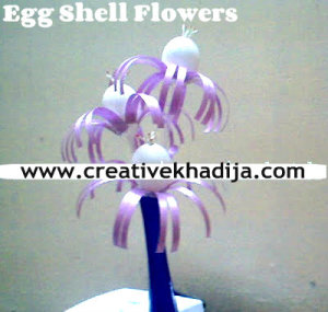 egg shells flowers ideas