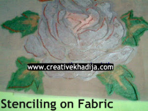 fabric stenciling work