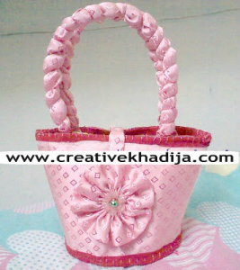 handmade pink bag for baby girl