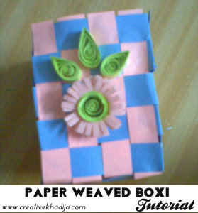 Paper weaved quilled box tutorial