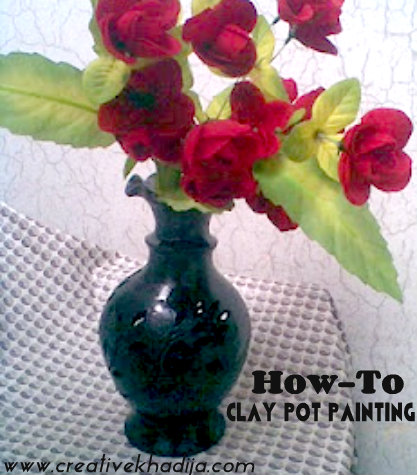 clay pot painting tutorial