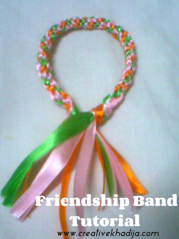 friendship band making with ribbons