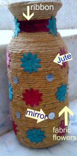 jute-twine embellished vase