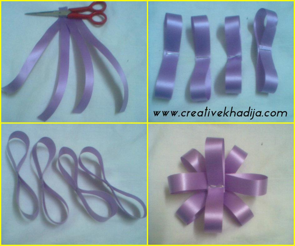 paper ribbon flower making