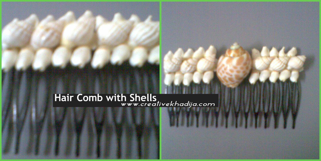 shells designed hair pin ideas