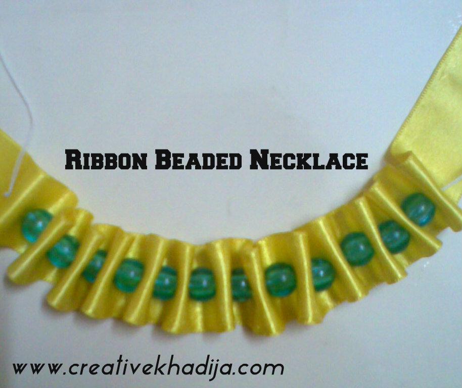 Ribbon beads accessory diy
