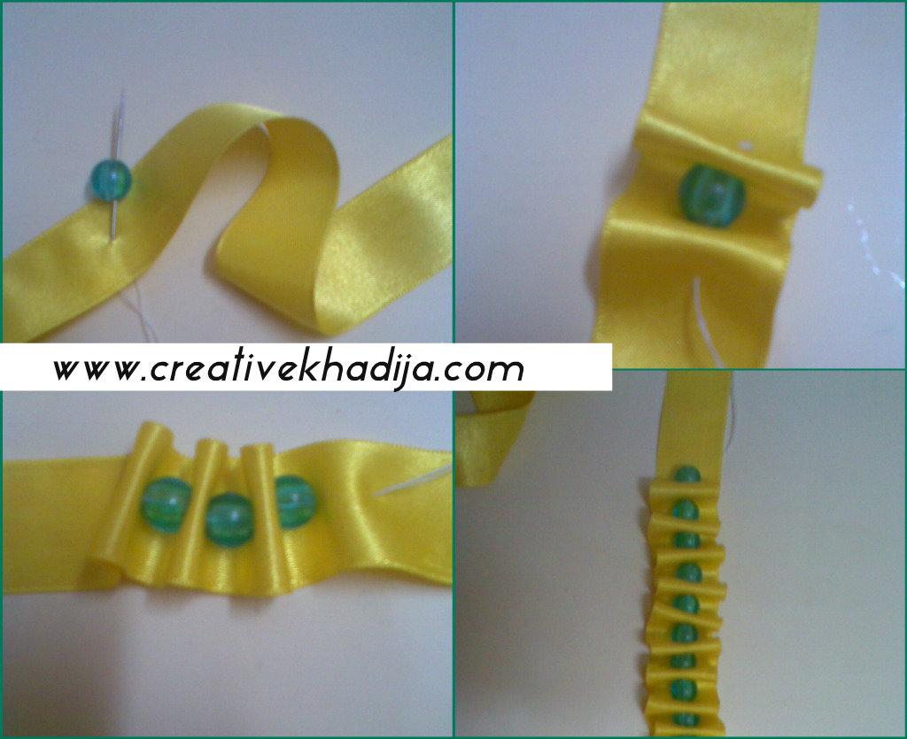 Ribbon & beads accessory diy