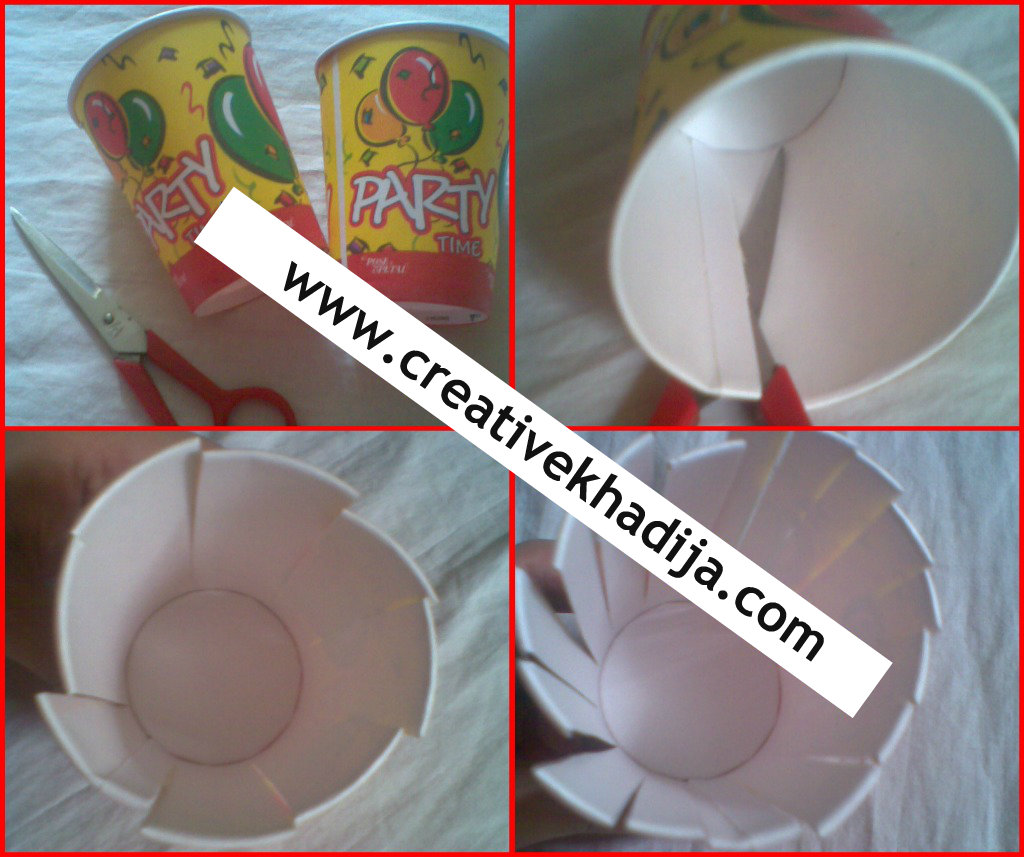 paper cup crafts-photo frame making