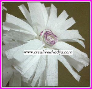 Tissue paper flowers making ideas