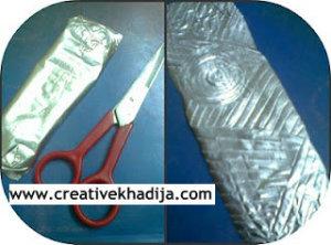 foil sheet crafts bookmark tutorial