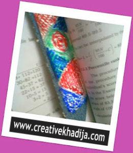 foil sheet crafts bookmark tutorials