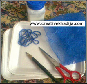 jewelry organizer making with styrofoam