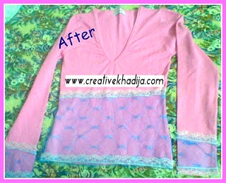 shirt refashion DIY idea
